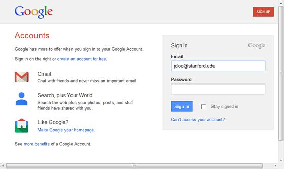 login logout automatico google