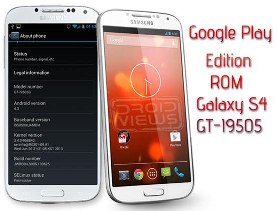 Google Play Edition Galaxy S4