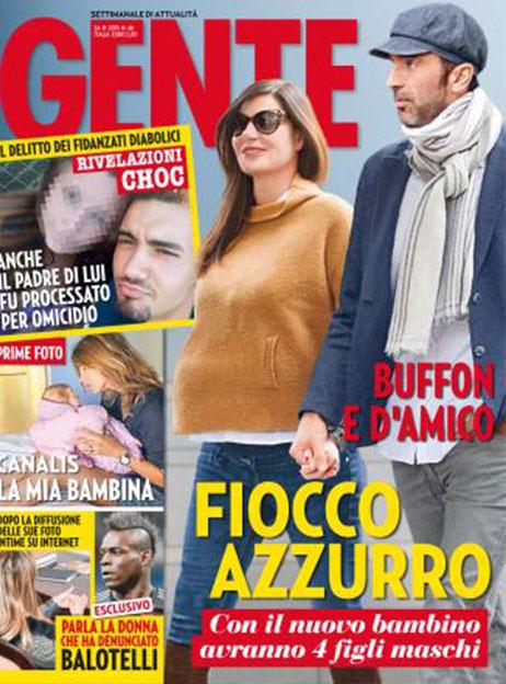 Buffon d 39 amico un altro fiocco azzurro in arrivo droppergen for Gente settimanale sito