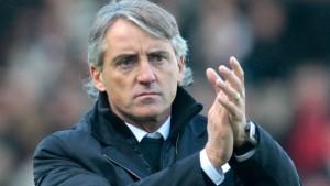Il tecnico dell'Inter Roberto Mancini